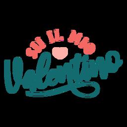 Etiqueta engomada de la tarjeta de San Valentín italiana sii la mia valentino