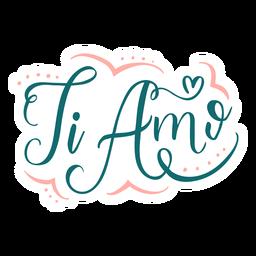 Ami-Abzeichenaufkleber des Valentinsgrußes italienischer