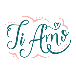 Valentine italian ti amo badge sticker