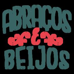 Pegatina de la insignia de los abraços y beigos portugueses de San Valentín