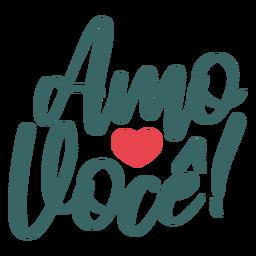 Namorados portugueses amo voce adesivo de crachá