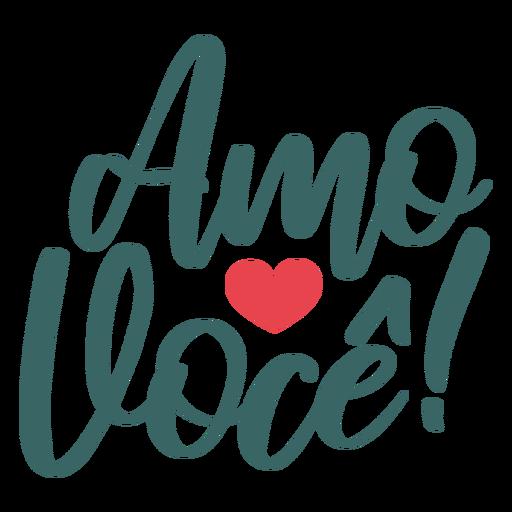 Namorados portugueses amo voce adesivo de crachá Transparent PNG