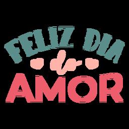 Etiqueta engomada de la insignia del feliz amor de portugués de San Valentín