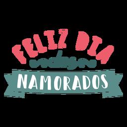 Pegatina de la insignia de los dos namorados del feliz portugués de San Valentín