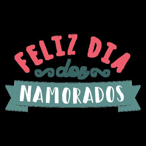 Valentine portuguese feliz dos namorados badge sticker Transparent PNG