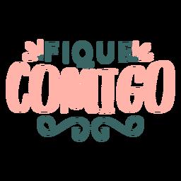 Autocolante de distintivo de comigo em portugues dos namorados