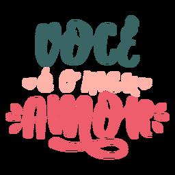 Etiqueta engomada de la insignia de amor eo meu portugués