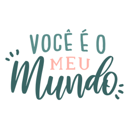 Valentine portuguese voce eo meu mundo badge sticker