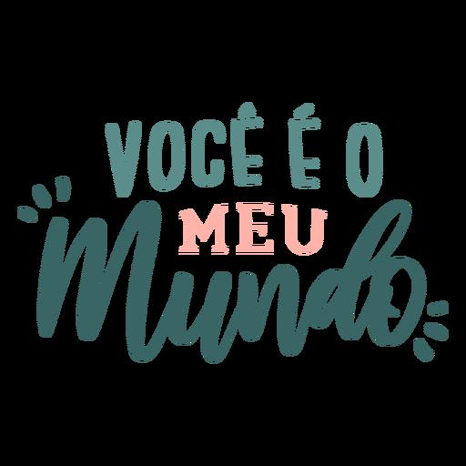 Etiqueta engomada de la insignia del mundo de voce eo meu portugués Transparent PNG