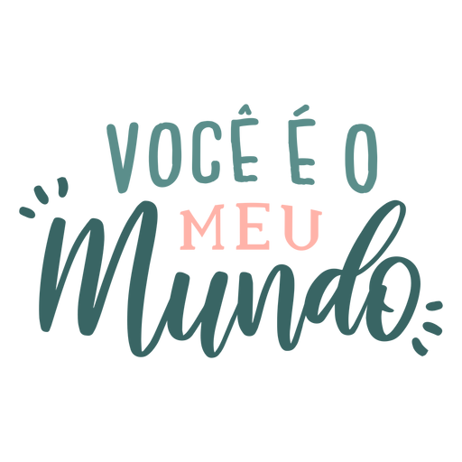 Valentine portuguese voce eo meu mundo badge sticker Transparent PNG