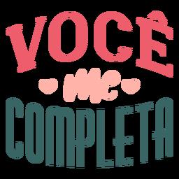 Adesivo de crachá para voce portugues voce me completa