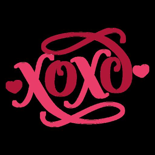 Etiqueta engomada de la insignia del corazón xoxo de San Valentín Transparent PNG