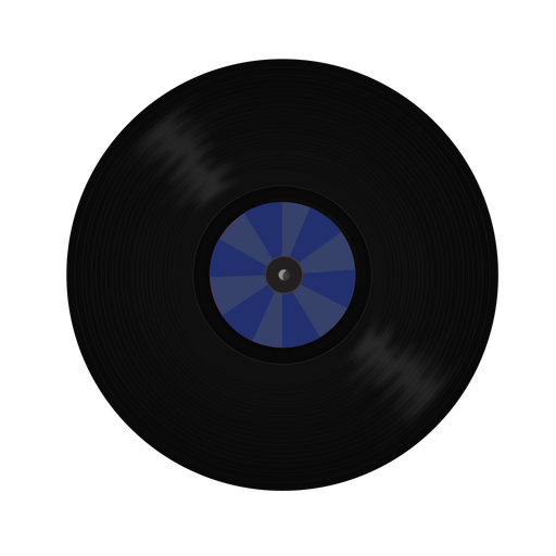 Vinyl record pattern illustration Transparent PNG