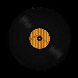 Ilustración de banda de disco de vinilo