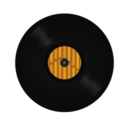 Vinyl record stripe illustration