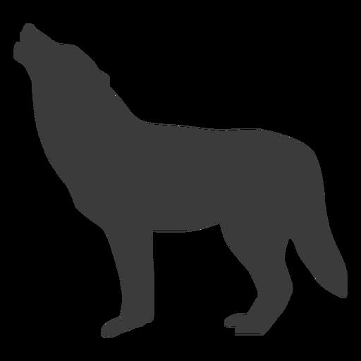 Lobo aullido de la cola de depredador silueta Transparent PNG