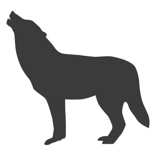 Wolf howl predator tail silhouette Transparent PNG