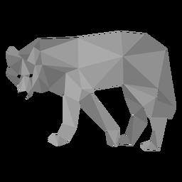 Cauda de predador de lobo baixo poli