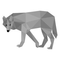 Wolf predator tail low poly