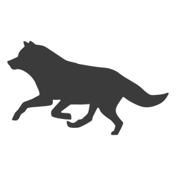 Silhueta de cauda de predador de lobo
