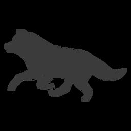 Silueta de cola de depredador lobo