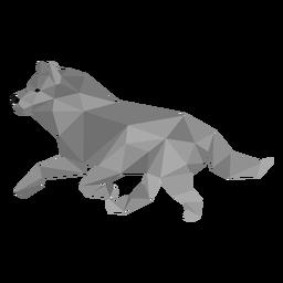 Predador de cauda de lobo baixo poli