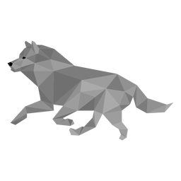 Wolfsschwanz Raubtier low poly