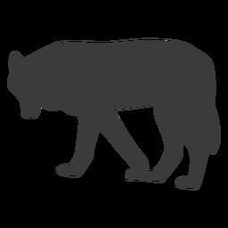 Silueta de depredador cola de lobo