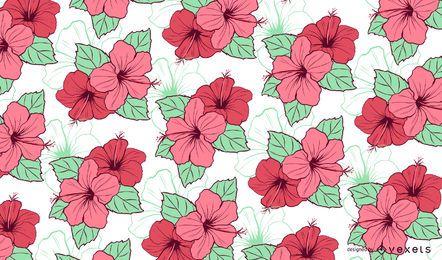 Diseño floral del modelo del hibisco