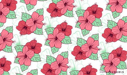 Floral Hibiscus Pattern Design