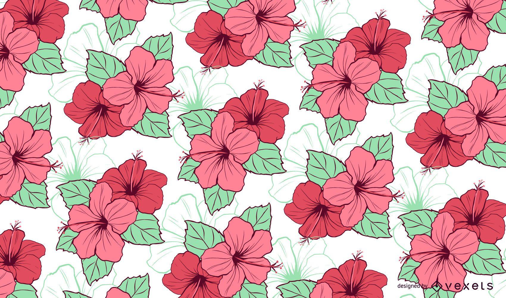 Floral Hibiscus Pattern Design