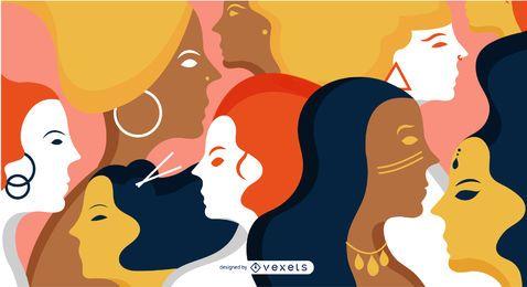 Diseño de ilustración de las mujeres