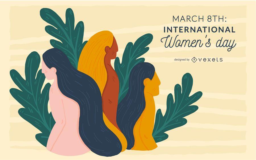 Ilustración del Día Internacional de la Mujer
