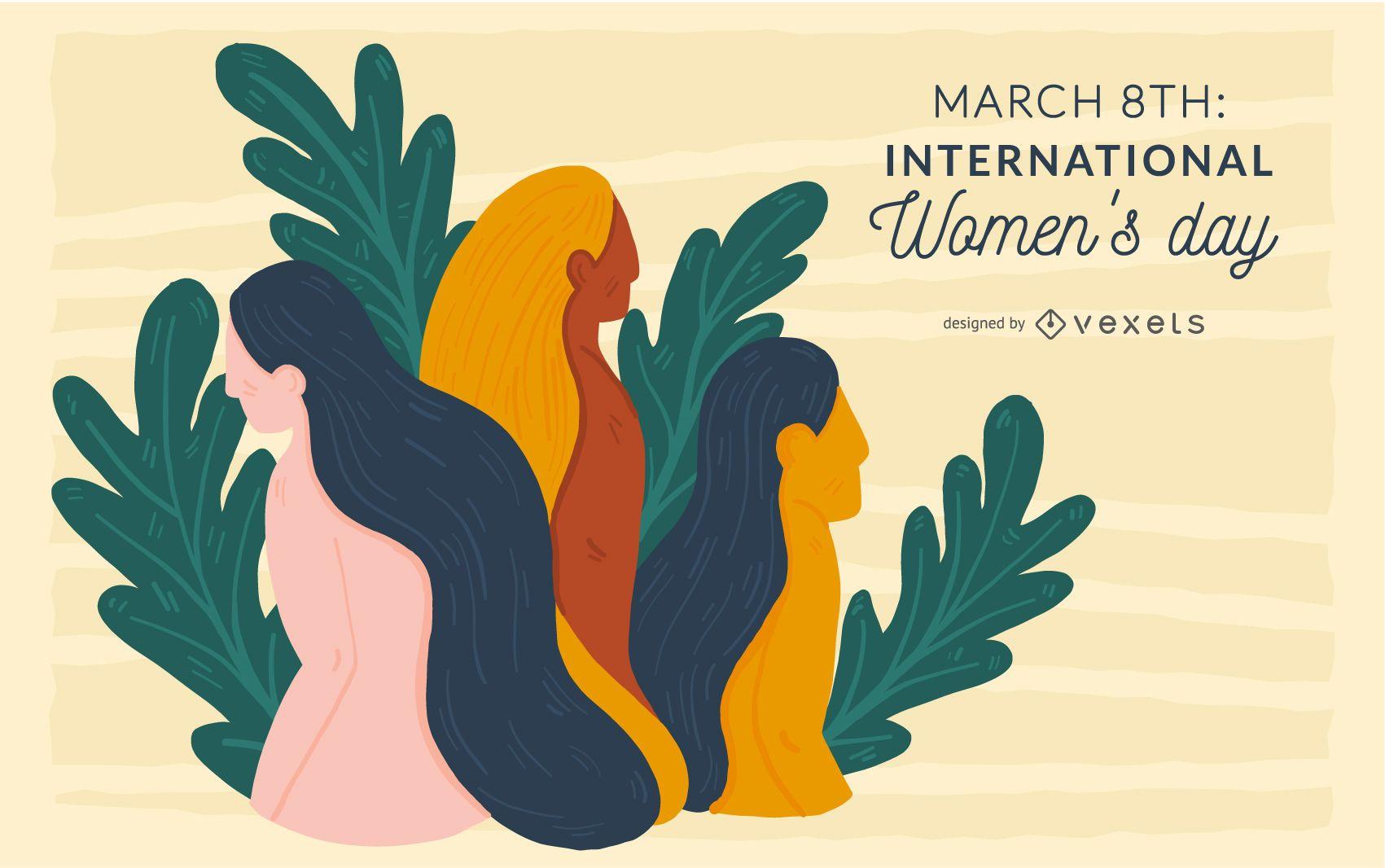 Ilustra??o do Dia Internacional da Mulher
