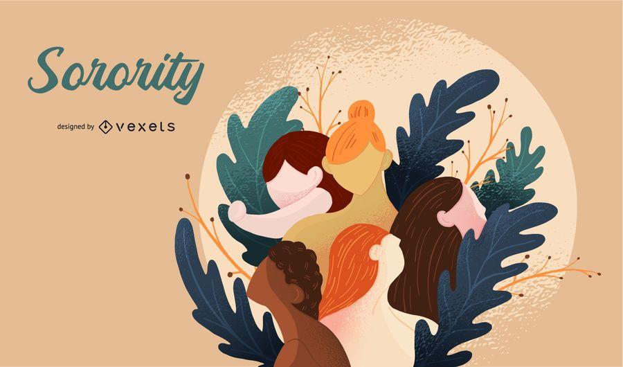 Sorority Illustration Design