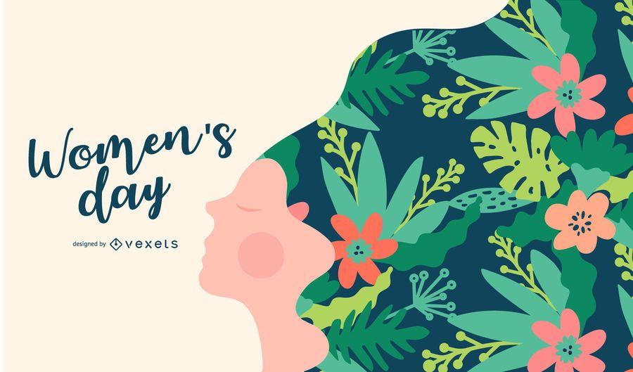 Ilustração do dia das mulheres