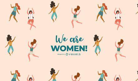 Nós somos mulheres! Ilustração