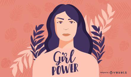 Projeto de ilustração do poder feminino