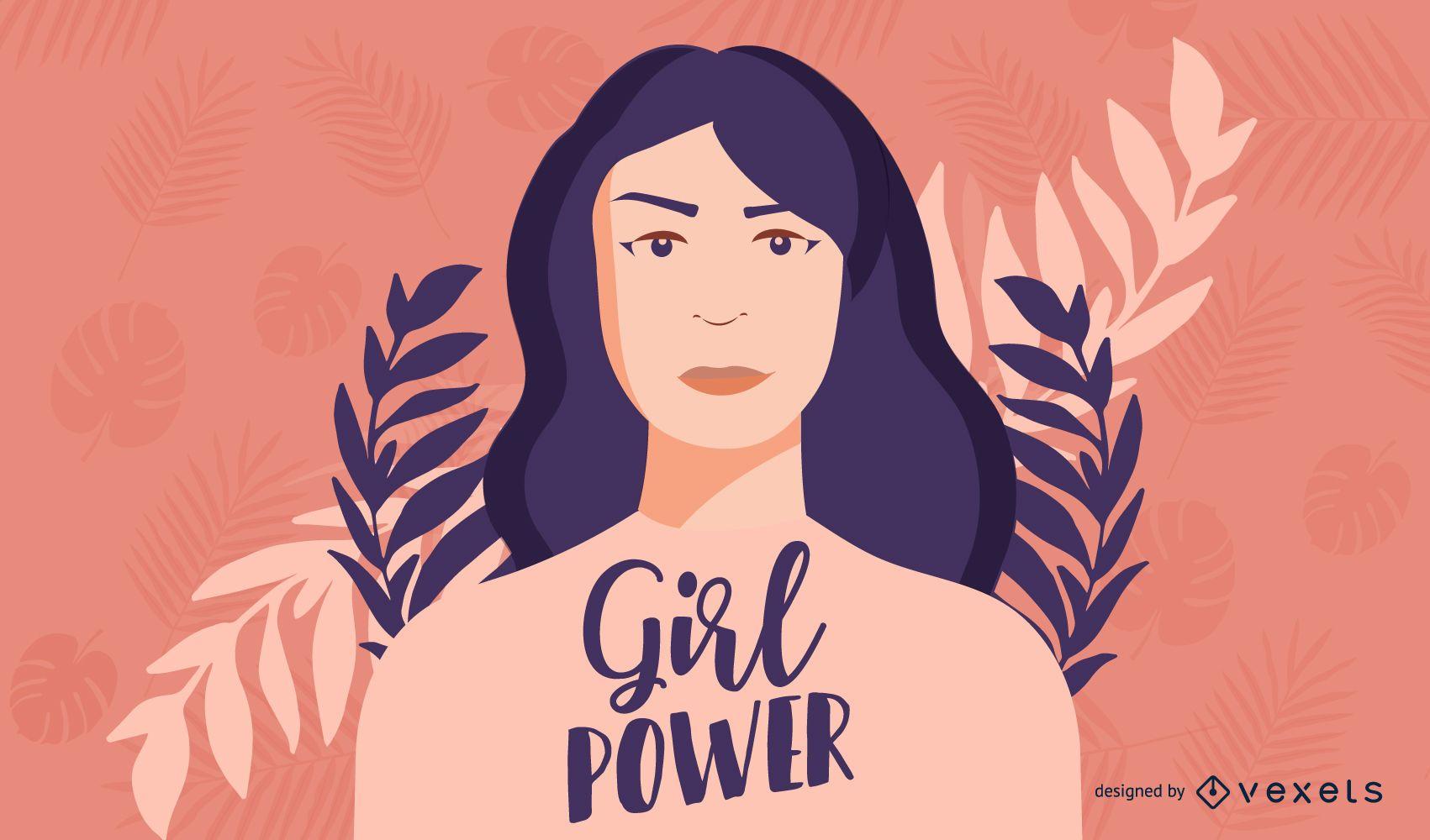 Dise?o de ilustraci?n de Girl Power