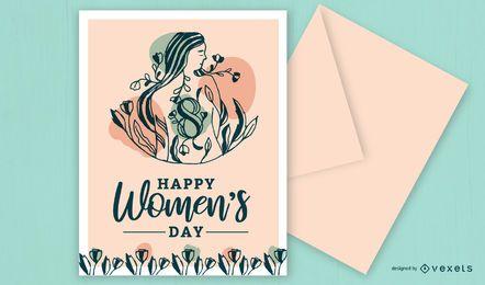 Design de cartão de dia feliz feminino