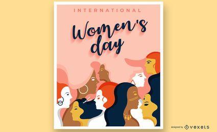 Design de cartaz do dia das mulheres
