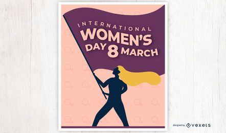 Design de pôster do Dia Internacional da Mulher