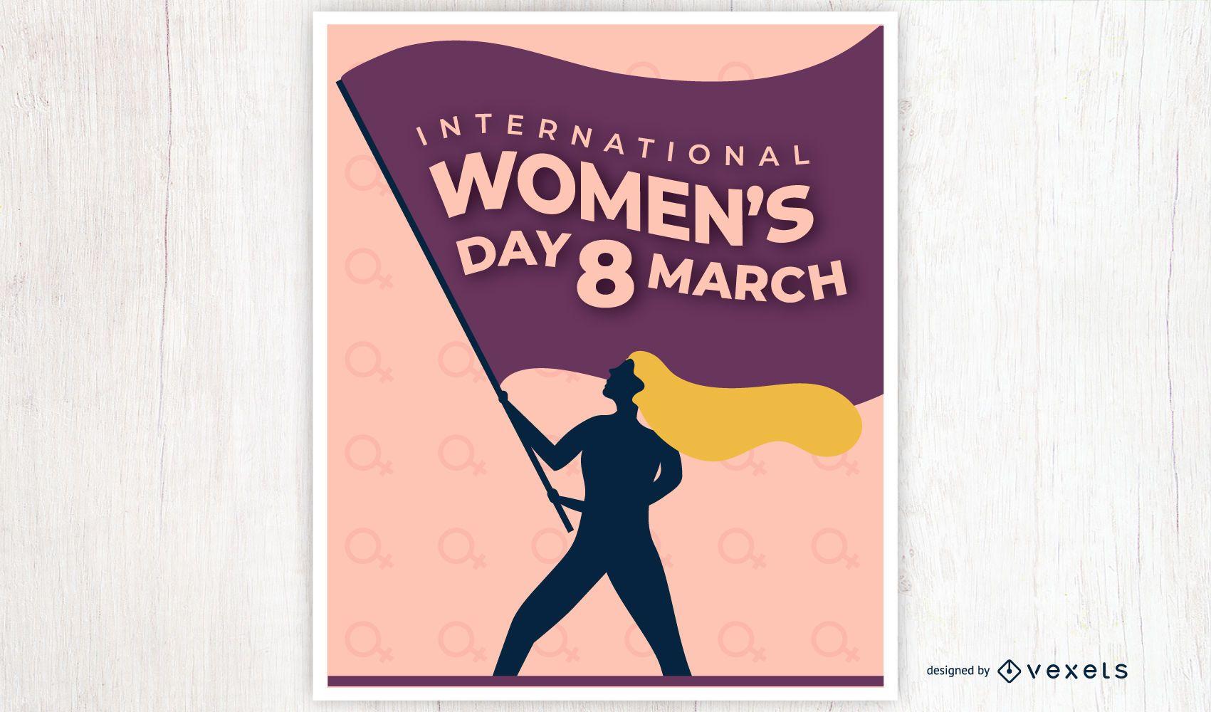 Diseño de carteles del día internacional de la mujer.