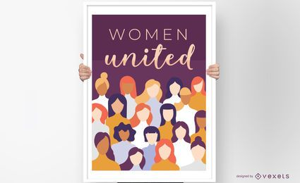 Design de cartazes da Women United