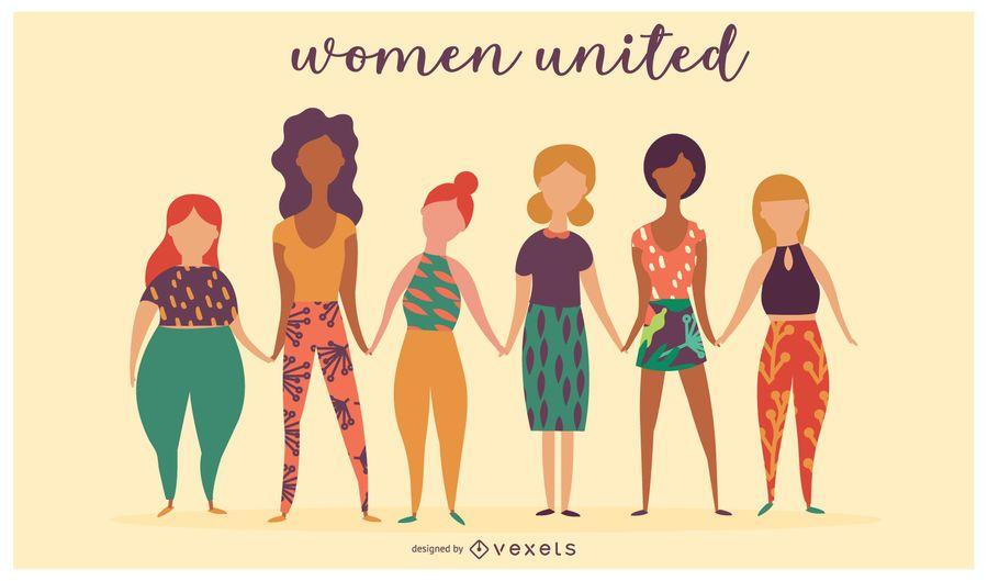 Mulheres Unidas Design Ilustração