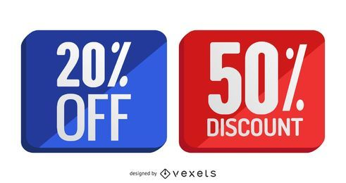 Discount Badges Set