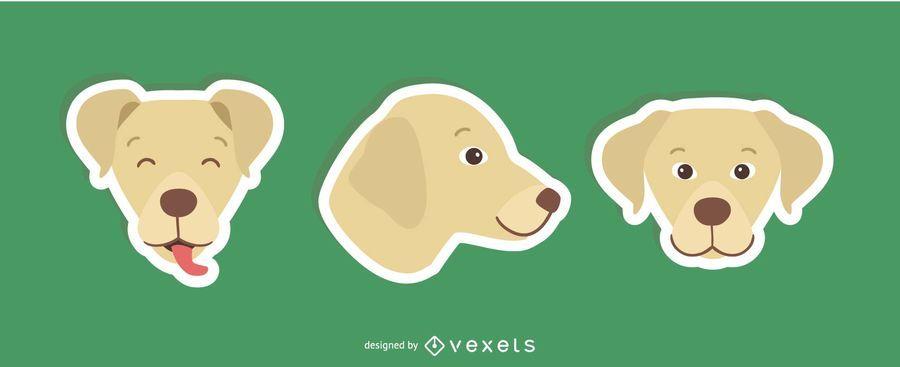 Conjunto de adesivo de cão