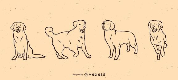 Conjunto de línea de perro