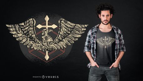 Eagle cross design de t-shirt