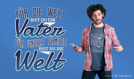 Projeto alemão do t-shirt do dia dos pais